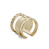 Maria Francesca Pepe Women's Orbital Cut Out Ring - Gold: Image 1