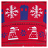 Doctor Who Dalek Snowflake Christmas Jumper - Red: Image 4