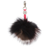 Charlotte Simone Women's Gobstopper Keyring - Black/Silver Fox/Pink Mix Pom: Image 2