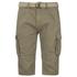 Brave Soul Men's Radical Belted Cargo Shorts - Stone: Image 1