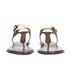 MICHAEL MICHAEL KORS Women's MK Plate Thong Flat Sandals - Brown: Image 4