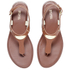 MICHAEL MICHAEL KORS Women's MK Plate Thong Flat Sandals - Luggage: Image 2
