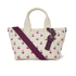 Marc by Marc Jacobs Women's Embroidered Fruit Canvas Small Tote Bag - Off White Cherry: Image 1