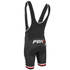 PBK Santini Replica Team Winter Bib Shorts - Red/White/Black: Image 2
