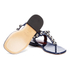 Marc by Marc Jacobs Women's Liv T Strap Leather Sandals - Navy: Image 6