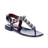 Marc by Marc Jacobs Women's Liv T Strap Leather Sandals - Navy: Image 5