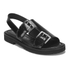 Opening Ceremony Women's Mirror Leather Double Strap Sandals - Black: Image 5