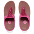 FitFlop Women's Cha Cha Leather/Suede Tassel Toe Post Sandals - Bubblegum: Image 6