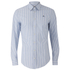 Vivienne Westwood MAN Men's Classic Stretch Stripe Long Sleeve Shirt - Blue Stripe: Image 1