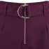 Lavish Alice Women's D-Ring Belt and Cuff Tapered Leg Trousers - Aubergine: Image 5