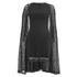 Lavish Alice Women's Lace Cape Mini Shift Dress - Black: Image 1