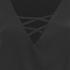 Lavish Alice Women's Lace Up Deep Plunge Bell Long Sleeve Top - Black: Image 4