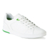 BOSS Green Men's Ray Check Leather Trainers - White: Image 2