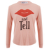 Wildfox Women's Girlfriends T Kiss And Tell Long Sleeve Top - Cotton Candy: Image 1