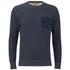 BOSS Orange Men's Wealer Patterned Sweater - Navy: Image 1