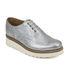 Grenson Women's Emily V Grain Leather Brogues - Silver: Image 5