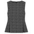Diane von Furstenberg Women's Mallorie Top - Black/Ivory/Black: Image 1