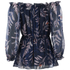 Diane von Furstenberg Women's Camila Top - Snake Leaves New Indigo: Image 2