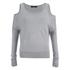 VILA Women's Count Cold Shoulder Jumper - Light Grey Melange: Image 1