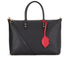 Lulu Guinness Women's Frances Medium Tote Bag with Lip Charm - Black: Image 1