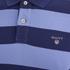 GANT Men's Barstripe Pique Rugger Polo Shirt - Lavender Blue: Image 3