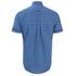GANT Men's Dogleg Poplin Check Short Sleeve Shirt - Sage Blue: Image 2