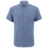 GANT Rugger Men's Chambray Short Sleeve Shirt - Indigo: Image 1