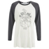 OBEY Clothing Women's Recover The Earther Raglan 3/4 Length T-Shirt - Cream/Graphite: Image 1