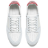 AMI Men's Low Top Trainers - White/ Red: Image 2