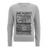 AMI Men's Market Print Crew Neck Sweatshirt - Heather Grey: Image 1