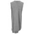 Alexander Wang Women's V Neck Tank Dress with Asymmetric Hem - Grey Melange: Image 2