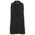 Alexander Wang Women's Shawl Collar Vest with Racer Back Armhole - Onyx: Image 1