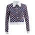 Carven Women's Denim Printed Jacket - Multi: Image 1