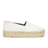 KENZO Women's Tiger Leather Flatform Espadrilles - Cream: Image 1