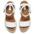 See by Chloe Women's Leather Wedged Sandals - White: Image 2