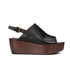 See by Chloe Women's Leather Platform Mules - Black: Image 1