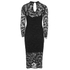 French Connection Women's Lace Full Length Dress - Black: Image 2