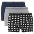 Bjorn Borg Men's Triple Pack Check Boxers - Blue/Grey/Black: Image 1
