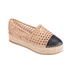 Loeffler Randall Women's Mariko Perforated Flatform Espadrilles - Buff/Black: Image 5