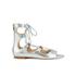 Loeffler Randall Women's Dani Front Tie Sandals - Silver: Image 1