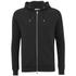 J.Lindeberg Men's Zipped Hooded Sweatshirt - Black: Image 1