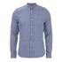 J.Lindeberg Men's Denim Long Sleeve Shirt - Light Indigo: Image 1