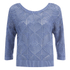ONLY Women's Noah Short Knitted Pullover - Vintage Indigo: Image 1