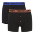 Tokyo Laundry Men's Charmouth 2 Pack Button Boxers - Fire Orange/Deep Blue: Image 1