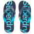 Superdry Men's Flip Flops With Clear Sole - Fluro Blue/Dusk Navy: Image 1