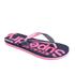 Superdry Women's Scuba Flip Flops - French Navy/Fluro Pink: Image 2
