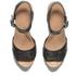 UGG Women's Janie Leather Heeled Sandals - Black: Image 2