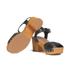 UGG Women's Janie Leather Heeled Sandals - Black: Image 6