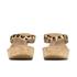 UGG Women's Natassia Calf Hair Leopard Wedged Sandals - Chestnut Leopard: Image 4
