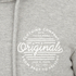 Jack & Jones Men's Originals Smooth Hoody - Light Grey Melange: Image 3